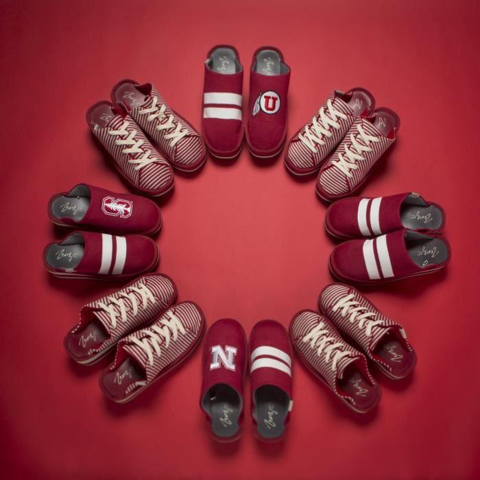 Collège Chaussons ncaa - Comfy Plate-forme Slip On Sneaker Knit - Parfait pour un usage intérieur - extérieur P7K2N Taille-41