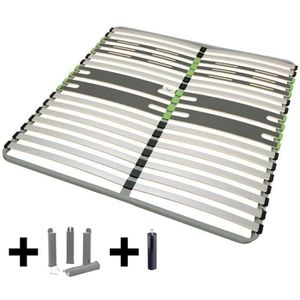 SOMMIER AltoZone - Pack Sommier 2x16 Lattes 140x200cm + Pi