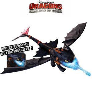 FIGURINE - PERSONNAGE DRAGONS - Krokmou Cracheur De Flammes Dragons