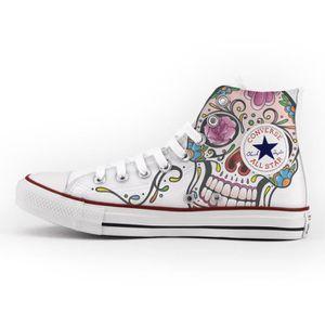 Converse All Star Personnalisé et imprimés - chaussures à la main -- foods 2fGoP