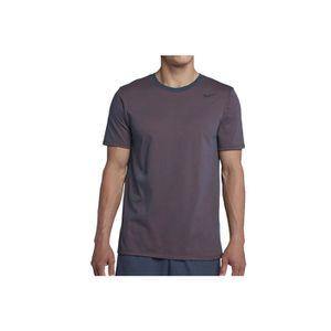 Nike Dri-Fit Cotton Short Sleeve 706625-471 Homme T-shirt Gris Gris Gris - Achat / Vente basket  - Soldes* dès le 27 juin ! Cdiscount