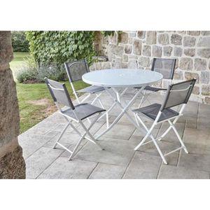 Table ronde salon de jardin metal - Achat / Vente pas cher