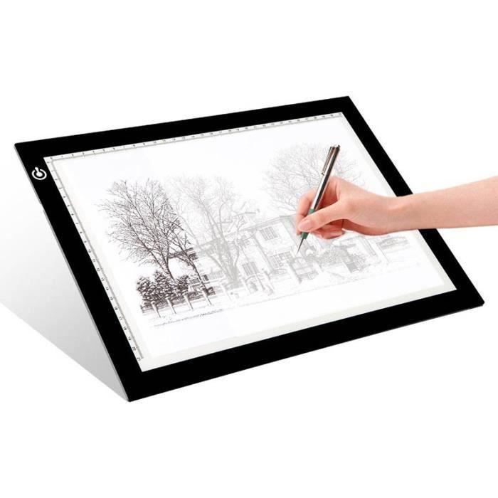 legere tablette lumineuse a3 led pad pour dessiner plaque avec luminosit r glable prix. Black Bedroom Furniture Sets. Home Design Ideas