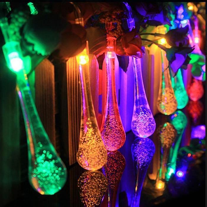 Guirlande solaire exterieur LED Jardin 30 LED Etanche Lampe Solaire ...
