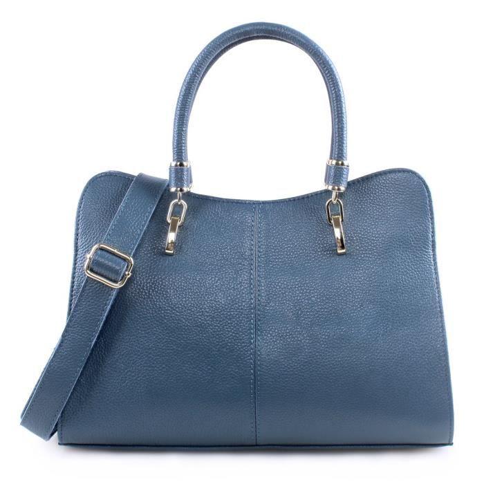 Dames en cuir véritable sac fourre-tout Sac à main Sac à bandoulière Top-manche bourse SF57F