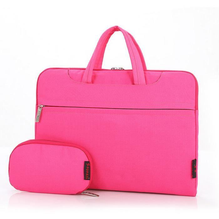 5df79402cd 13 pouces de couleur sac ordinateur portable revêtement multi-standard  (rose)