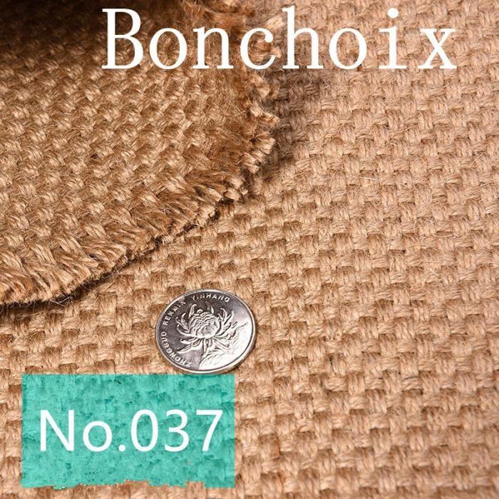 Tissus d 39 ameublement au m tre jute sac nappes diy couture mat riel 1m achat vente - Tissu ameublement au metre ...