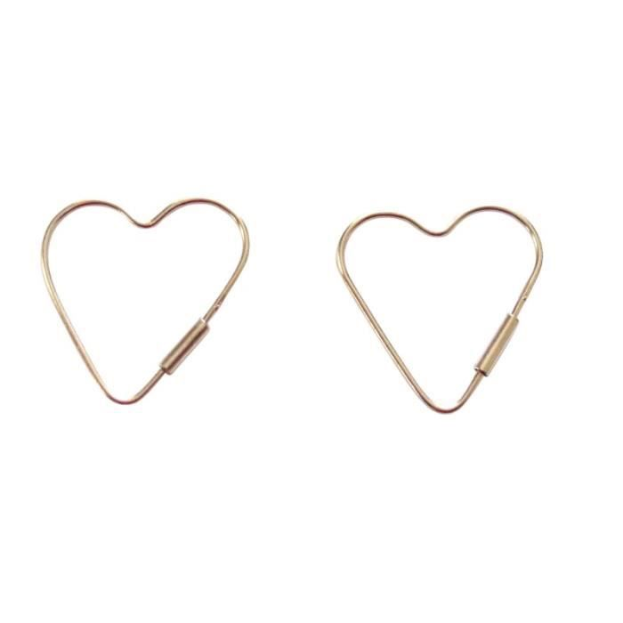 Gemshine - Femmes - Coeur - Boucles doreilles - 925 argent - 2 cm