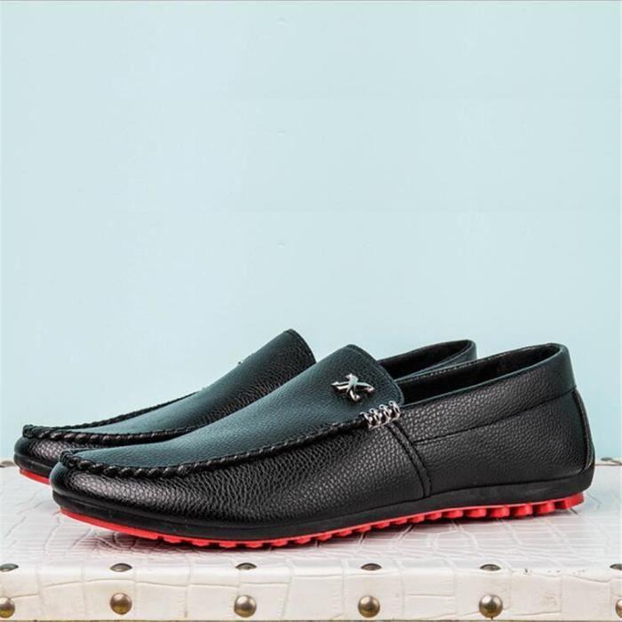 Moccasin Homme Confortable Chaussures Qualité Supérieure De Marque De Luxe Moccasins 2017 Cuir Plus Taille 39-44 nKJYv0rL