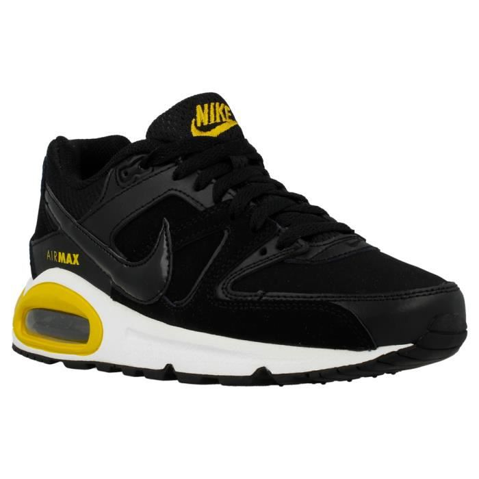 db715fc1df62 Baskets Nike Air Max Command GS Noir et Jaune. 407759-061. Noir Noir ...