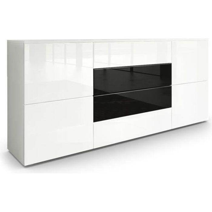 Buffet moderne noir et blanc - Achat / Vente pas cher