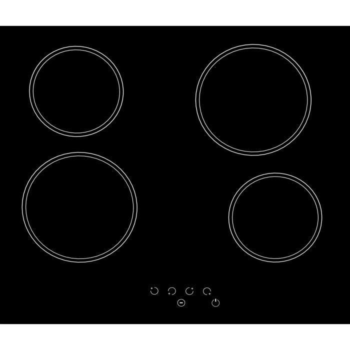 photos officielles 84fb7 dce49 SOGELUX Table de cuisson vitrocéramique PV125 noire