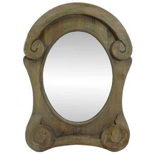 Miroir ovale bois achat vente miroir ovale bois pas for Miroir oeil de boeuf