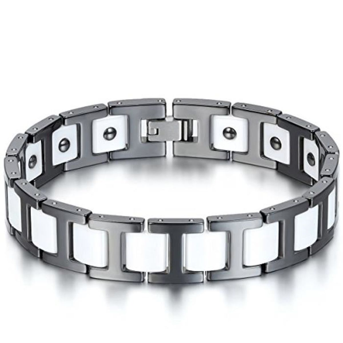 Bracelet homme or blanc luxe