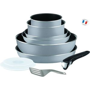 TEFAL INGENIO ESSENTIAL Batterie de cuisine 10 pi?ces L2149602 16-18-20-22-26cm Tous feux sauf induction