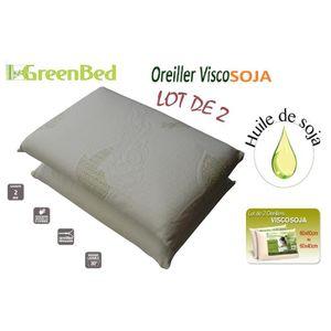 OREILLER  Pack 2 oreillers 60X40 VISCO Soja MÉMOIRE DE FORM