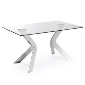 TABLE À MANGER SEULE Table Westport 150x90 cm, argent
