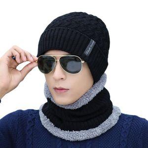 4c85a78c6754 ECHARPE - FOULARD Mode hommes en peluche hiver chaud chapeau bonnet