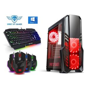 UNITÉ CENTRALE  PC Gamer Rogue II Red - A4-6300 - 8GO RAM - HDD 10