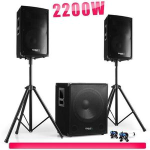 PACK SONO Pack sonorisation 2200W Cube 1512 - 2 Enceintes 12