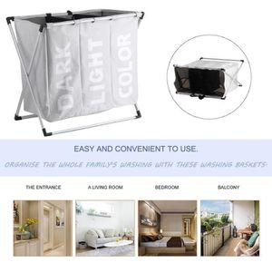 panier linge compartimente achat vente panier. Black Bedroom Furniture Sets. Home Design Ideas