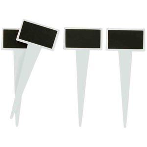 KIT SCRAPBOOKING Porte-étiquettes ardoise à piquer 4,5 x 2,5 x 11 c