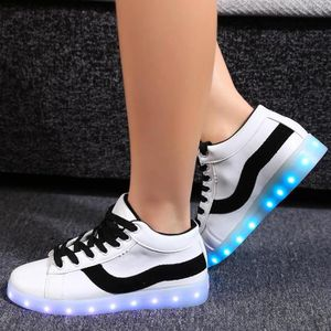 BASKET Sneakers 2 LED s'allument Patchwork Round Toe Flat