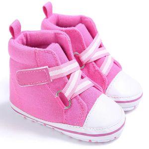 Frankmall®Bébé filles garçons crèche chaussures Soft semelle anti-dérapant Sneakers toile#WQQ0926330 45Uiul