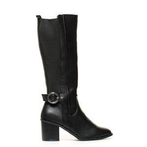 BOTTE Noa 03 talon bottes noires -Hauteur: 7cm-