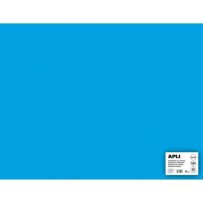 APLI Sachet de 25 feuilles de carton - Bleu ciel