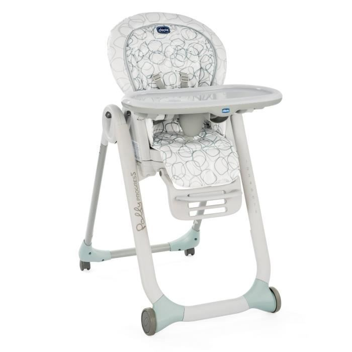CHICCO Chaise Haute Polly Progres5 - 4 Roues sage
