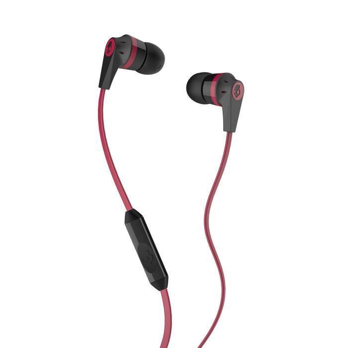 SKULLCANDY Écouteurs Intra-auriculaires Ink'd 2.0 - Avec micro - Noir et RougeCASQUE - ECOUTEURS