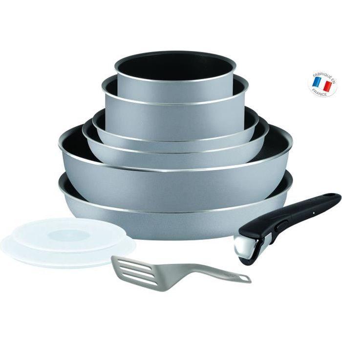 TEFAL INGENIO ESSENTIAL Batterie de cuisine 10 pièces L2149602 16-18-20-22-26cm Tous feux sauf induction