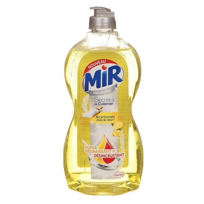 MIR Liquide vaisselle Secrets de cuisinier - Bicarbonate et zeste de citron - 500 ml