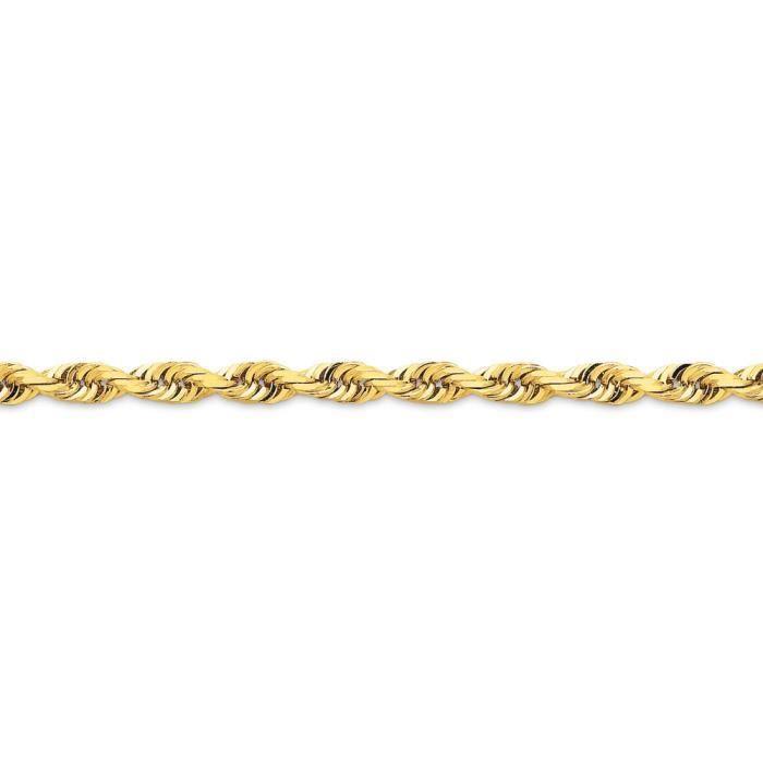 14 carats-Diamant - 5 mm-cut Quadruple corde chaîne collier 20 pouces