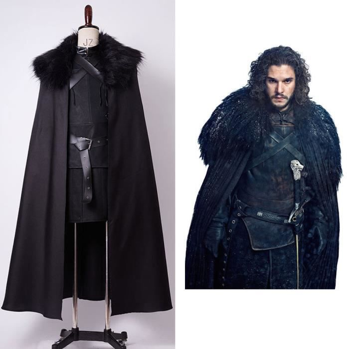le tr ne de fer jon snow la garde de nuit cosplay costume. Black Bedroom Furniture Sets. Home Design Ideas