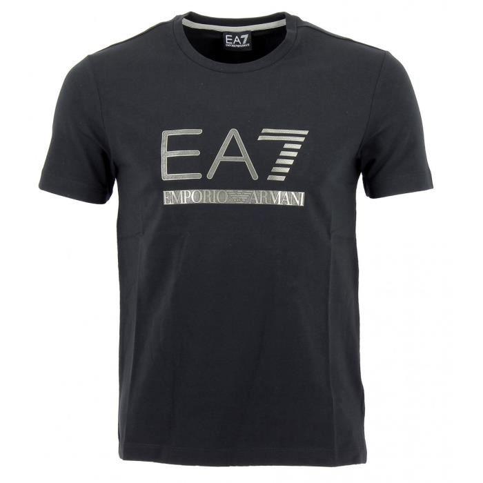 Tee-shirt EA7 Emporio Armani - 6XPTA5-PJ18Z-1200 Noir Noir - Achat ... 4e020e26f9a