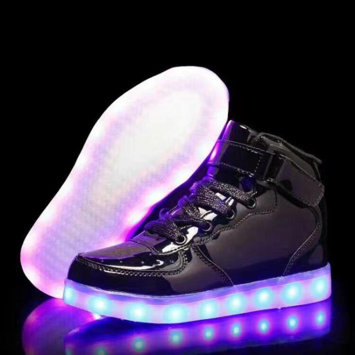 Chaussures de lumières de chaussures pour enfants enfants LED chaussures lumière chaussures de sport rechargeables USB garçons et