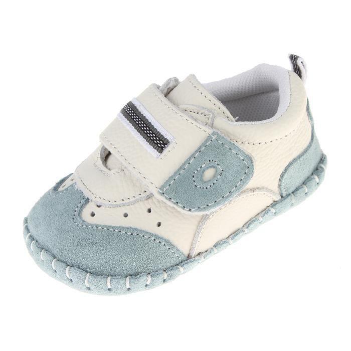 EOZY Chaussures Bébé en Cuir Souple Premier Pas Chausson Cuir Bébé Fille Chaussure Bébé Garçon