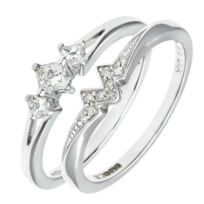 Revoni Bague alliance Diamant Or Jaune 375° Femme: Poids du diamant : 0.03 ct - CD-PR08502BY-P