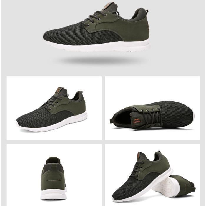 Chaussure Basket de Hommes sport air mode plein noires Chaussures respirant SSdrqnR