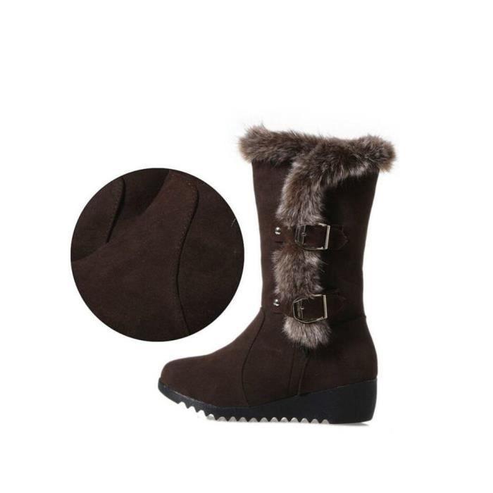 Botte Femme Hiver Peluche courte Meilleure Qualité Chaussure Garde Au Chaud Confortable Classique Bottes Mode Doux Taille 35-40