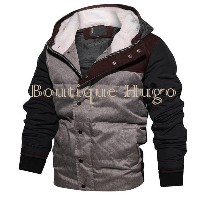 blouson Manteau Boutique En Chaud Tricot Capuche Hugo De Homme Epais Fashion Hiver Molleton 55nrAPqw