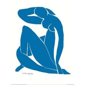 AFFICHE - POSTER Affiche papier -  Nu Bleu II   - Matisse  -  60x80