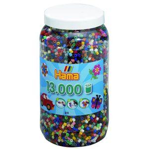 JEU DE PERLE Á REPASSER HAMA Midi Pot 13000 Perles 22 Couleurs