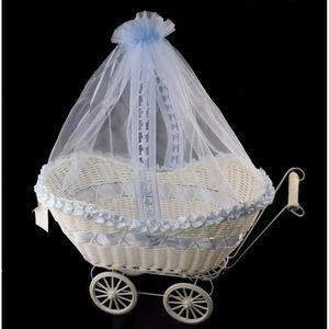BOÎTE À DRAGÉES Corbeille Poussette Panier à Dragées Cadeaux Baptê