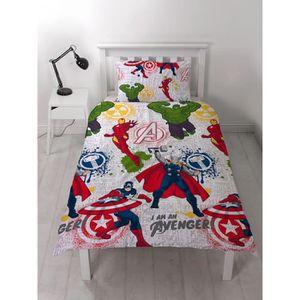 HOUSSE DE COUETTE SEULE Marvel Avengers mission unique housse de couette