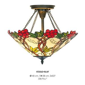 LAMPE A POSER Casa Padrino Tiffany ceiling lamp 40cm red / green