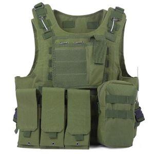 GILET DE PROTECTION Gilet Militaire Molle de Tactique Amphibie Gilet d