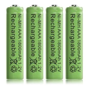 BATTERIE VÉHICULE 4pcs Ni MH AAA 1800mAh 1.2V Rechargeable Batteries